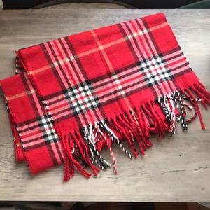 Beautiful Soft Vintage Red Plaid Scarf